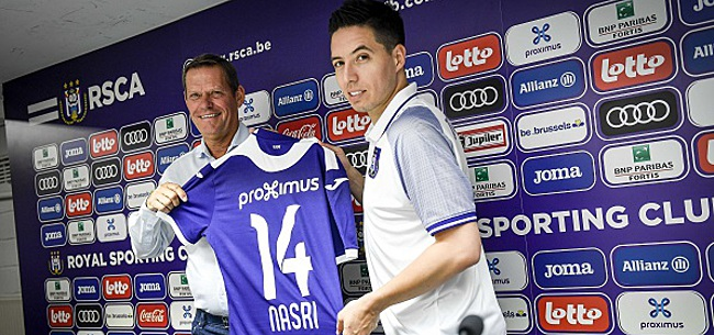 Foto: Première apparition de Nasri avec Anderlecht contre Hambourg ?