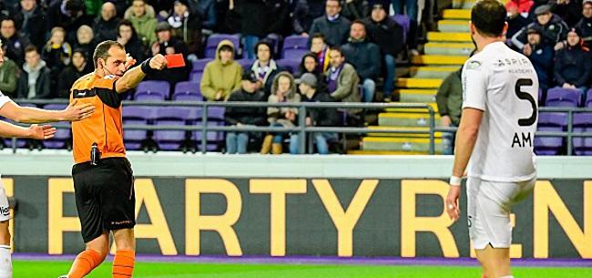 Foto: Eupen refuse la proposition de suspension pour Amat après sa rouge à Anderlecht