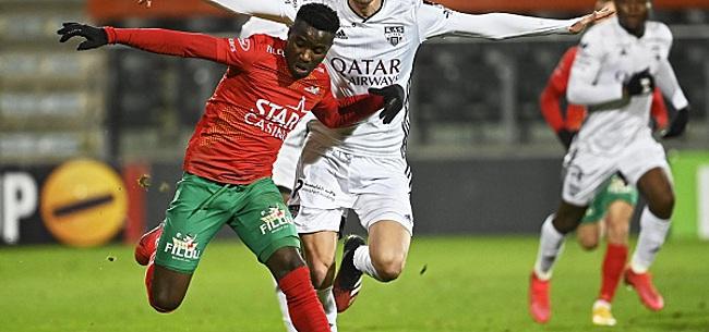 Foto: Ostende - Courtrai 2-1 - Vive le football sous la neige !
