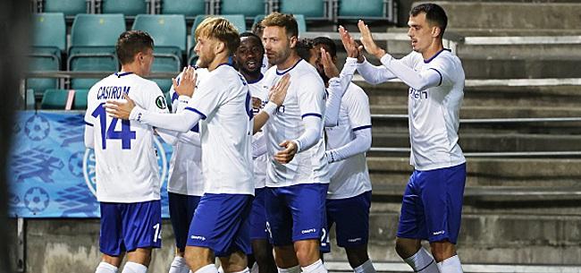 Foto: Conference League: Gand assure l'essentiel en Estonie